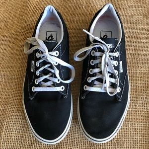 Vans Black and White Basic Sneakers Size 9.5